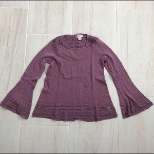 Mauve lace sweater top